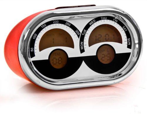 Multifunktionsuhr LCD Digital Wecker Reisewecker Uhr Datum Reise Retro Racing Look United ACK1070