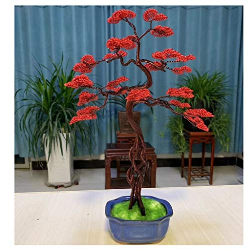 Feng shui albero money tree casa decorazione del salone feng shui decorazione pietre alberi home office casa décor regalo salute miglior regalo 9.8x11.8inch albero finto bonsai artificiale