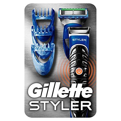 Gillette Fusion ProGlide Styler Rasoio a Batteria con Regolabarba, Regola, Rade e Rifinisce