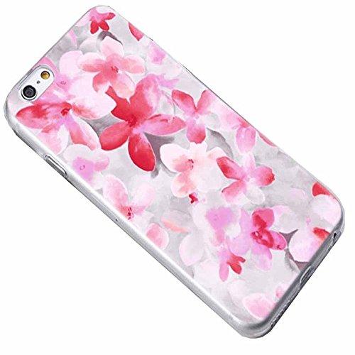 Easbuy Cute Fleur Soft TPU Silicium Etui Étui Housse Coque Pour iPhone 7 Anti-Scratch Silicone Silikon Cover Silicon Case Mode 10