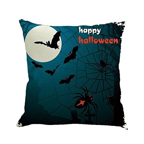 Dekoration Loveso Halloween Schläger Kürbis Hexe Schloss Muster Leinen Kissen Fällen Startseite Sofa Dekor Kissenbezug (Halloween Schloss Kostüme)