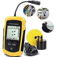 CLDGF Buscador De Peces Sonar Portable Sonar Fish Finder Buscador De Peces Sonic En Blanco Y Negro