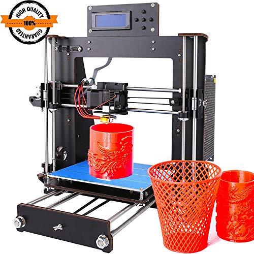 GUCOCO Intelligence Desktop 3D-Drucker DIY-Kits, Holz DIY Kit Prusa i3 3D Desktop Drucker, hohe Präzision DIY 3D-Drucker Druckgröße 200x200x180mm