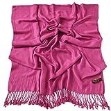 Rosa Fucsia Diseño Sólido Color Chal Pashmina Abrigo de la Bufanda de la Estola CJ Apparel NUEVO