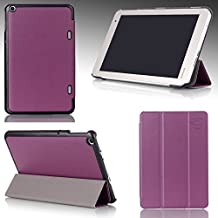 Ultra Slim For TOSHIBA Encore® 2 Write WT8PE-B264 Windows Tablet 8-inch Magnetic closure Luxury QUALITY PU LEATHER PROTECTIVE CASE, COVER, STAND with Hard Shell! PURPLE