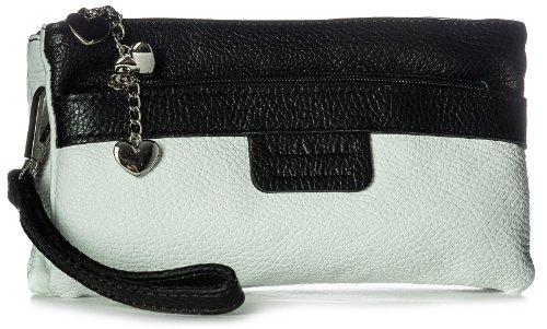 Big Handbag Shop, Poschette giorno donna Bianco (weiß schwarz Trim)