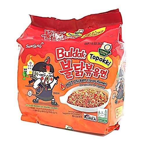 Samyang Hot Chicken Topokki Buldak Remen Noodles (Pack of 5) - 2019 New