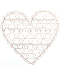 RJB Stone - Soporte de pared organizador de collares, diseño de corazón