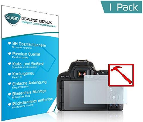 Slabo Premium Panzerglasfolie Canon EOS 200D Schutzfolie Echtglas Displayschutzfolie Folie Tempered Glass Klar - 9H Hartglas