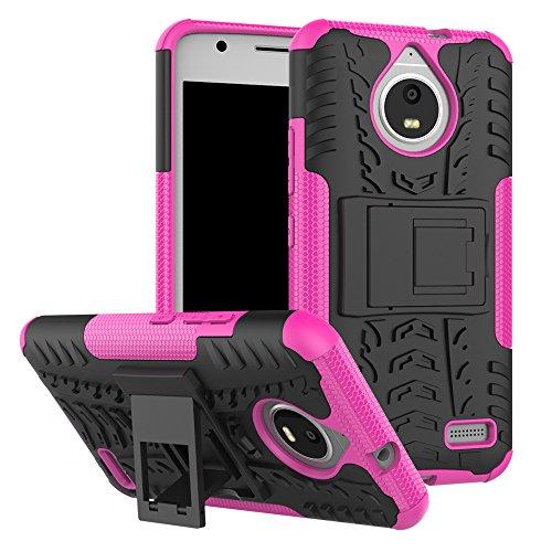 QiongniAN Cover per Motorola Moto E4,Staffa Antiurto Custodia per Motorola Moto E4 XT1760 XT1762 XT1763 XT1764 XT1767 XT1767PP XT1768 XT1769 / Moto E Gen 4 Custodia Case Cover Pink