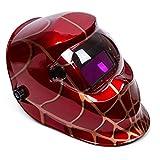 OHMOTOR Auto Darkening Solar Powered Welding Helmet Welders Mask Hood with Adjustable Shade