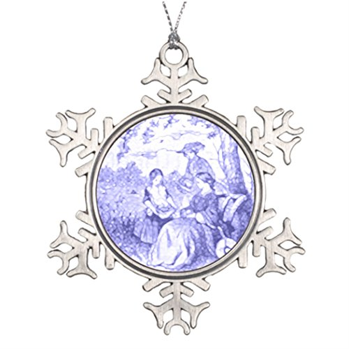 Tree Branch Decoration Godey's Lady's Book Illustration Make Your Own Snowflake Ornament Victorian Magazines
