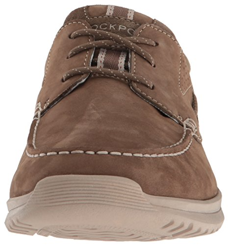 Rockport - Langdon 3 Eye Ox Chaussures pour hommes Taupe Nubuck