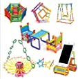 Techhark® 210+ DIY Toys Assembly Colorful Straw Educational Building Smart City Blocks for Kids (Include 210+ Stick)