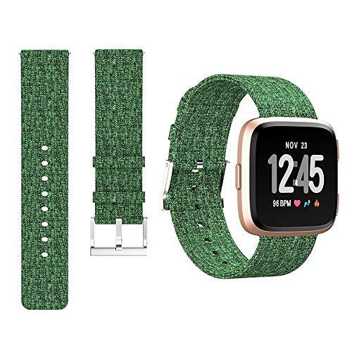 H&T Nylon-Uhrenarmband, Kompatibel Für Apple-Uhrenarmband 42Mm 44Mm Damen Herren Robuste Ersatz Iwatch 4 3 2 1 Bands Metallschnalle,Grün,42mm/44mm