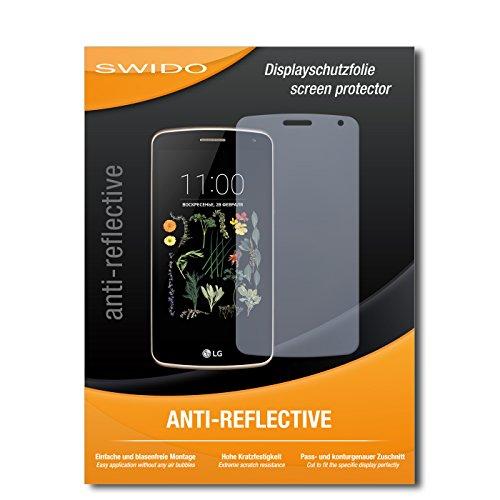 SWIDO Schutzfolie für LG K5 [2 Stück] Anti-Reflex MATT Entspiegelnd, Hoher Härtegrad, Schutz vor Kratzer/Bildschirmschutz, Bildschirmschutzfolie, Panzerglas-Folie