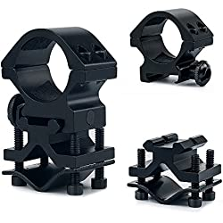 UniqueFire Soporte para cuerpo de 2,5 cm qq07 Rifle Gun con herramientas de montaje, Soporte para linterna infrarroja de visión nocturna uf-t20/1407/802