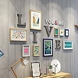 Galleria fotografica X&L Soggiorno decorazione appesa Studio murali parete sullo sfondo di divani moderni e minimalisti, caffetteria...