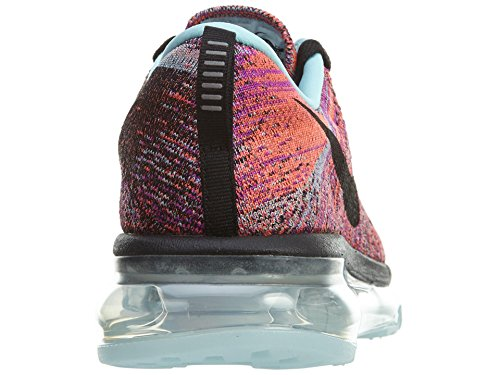 Nike Wmns Flyknit Max, Scarpe da Corsa Donna BLACK/BLACK-COPA-HYPER ORANGE