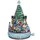 Enesco Heartwood Creek Oggetto Decorativo e Musicale Babbo Natale con Treno Musical, Resina