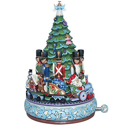 Enesco Heartwood Creek Oggetto Decorativo e Musicale Babbo Natale con Treno Musical, Resina, Multicolore - Enesco Natale