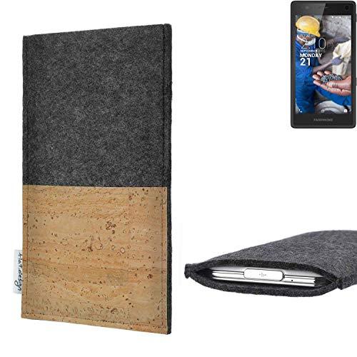 flat.design vegane Handy Hülle Evora für Fairphone Fairphone 2 Kartenfach Kork Schutz Tasche handgemacht fair vegan