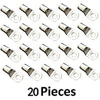 guangshun 20pcs Tin chapado en cobre puro recargable extremos de cable Lugs anillo terminales conectores para 6calibre, calibre 4, 2calibre calibre, calibre 1/0, 2/0, 4/0Gauge (8,6,4,2,1/0,2/0,4/0AWG)