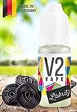 V2 Vape E-Liquid Lakritz - Luxury Liquid für E-Zigarette und E-Shisha Made in Germany aus natürlichen Zutaten 10ml 0mg nikotinfrei