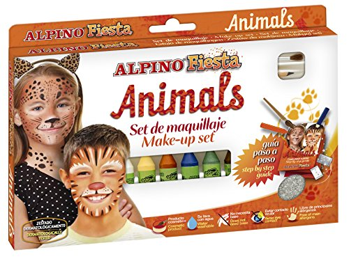 Alpino 944448 - Animals, set de maquillaje de fiesta
