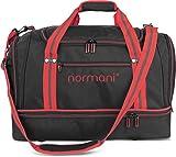 normani Sporttasche 58 Liter - Fitnesstasche - Reisetasche mit großem Schuhfach und Nassfach für Damen und Herren | 55 cm x 30 cm x 36 cm Farbe Rot