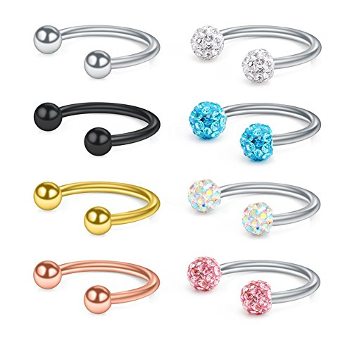 Fashion Jewelry Glorious Piercing Nombril Crystal En Acier Chirurgical 316l Rich And Magnificent