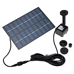 Anself 1 8watt Solar Power Water Pump Garden Fountain