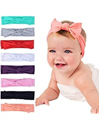 Skudgear New Born Baby Girl's Hairbands Pack of 8