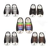 5 pares de cordones de silicona, sin atar, para adultos, ideal para botas, zapatos y zapatillas