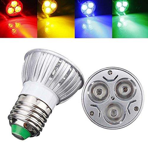 Pegasus E27 3w ac 220v 3 LED s rot/gelb/blau/grün LED entdeckt Glühbirnen