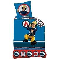 CTI 040099 Bettwäsche Feuerwehrmann Sam / Linon / 135 x 200 + 80 x 80 cm