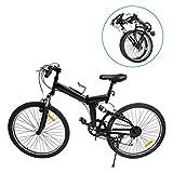 "Ridgeyard MountaiNe 26"" 7 velocidades Plegable Bicicleta Folding Bike Bicicleta de montaña Shimano (Negro)"