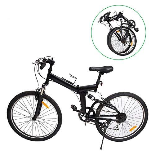 Ridgeyard MountaiNe 26' 7 velocidades pieghevole bici pieghevole bicicletta Mountain Bike Shimano (Negro)