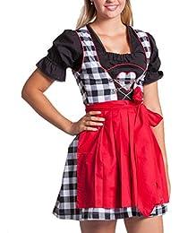 Mini Dirndl - Braun Weiß Rot Grün Blau Oktoberfest Dirndlkleid Mini Dirndl Trachtenkleid