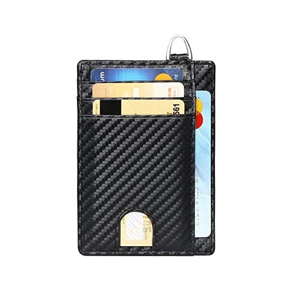 flintronic Portia Carte di Credito e Tasche Pelle, RFID/NFC Blocco Portafoglo, (1 Scomparto Con Cerniera, 6 Slot Per… 6 spesavip