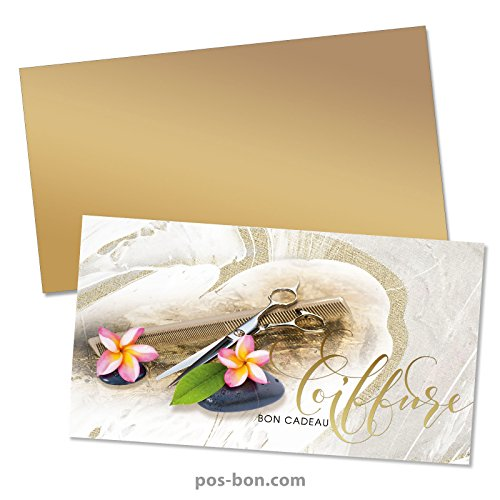 50 Bons cadeaux + 50 enveloppes pour coiffeurs K1202F
