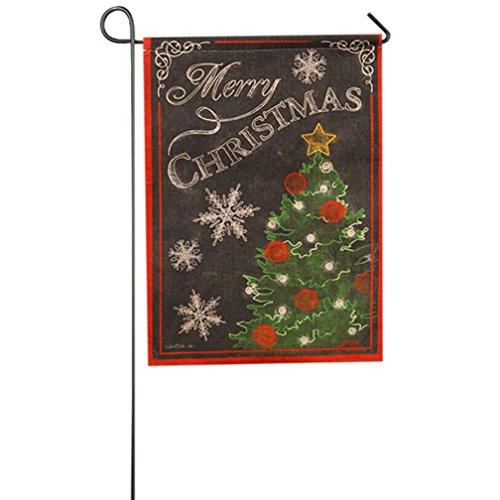 Longra Fahne Flagge Garten Indoor Outdoor-Dekoration Weihnachten Winter Schneeflocke (G)