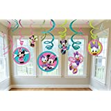 Diseny Minnie Mouse Party Foil Hanging Swirl Decorations / Spiral Ornaments (12 PCS)- Party Supply, Party Decorations by GoodyPlus