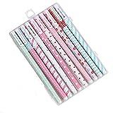 fiosoji pluma neutral,Bolígrafos de tinta gel,10 sets,Creativo y fresco,Caja de bolígrafos,Juegos de bolígrafos,papelería mr wonderful
