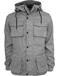 urban classics CHAMBRAY LINED Chaqueta forrada - gris/negro, 100% poliéster, M