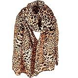 Lenfesh Bufandas leopardo de Mujeres Pañuelos Fular Estampado Mujer Fulares Elegantes Suave Para Mujer