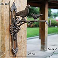 CAISHENY Hook Rustic Decorative Cast Iron Wall Hooks For Hanging Lanterns Hummingbird Feeders Wind Chimes Planters Macrame Plant Hangers-D