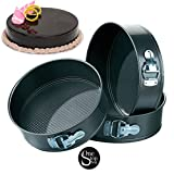 #9: One-Stop-Shop Non Stick Tin Cake Mould Set, 3-Pieces, Black