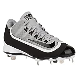Nike Huarache 2kfilth Pro Low Wolf Greywhiteblack Mens Cleated Shoes