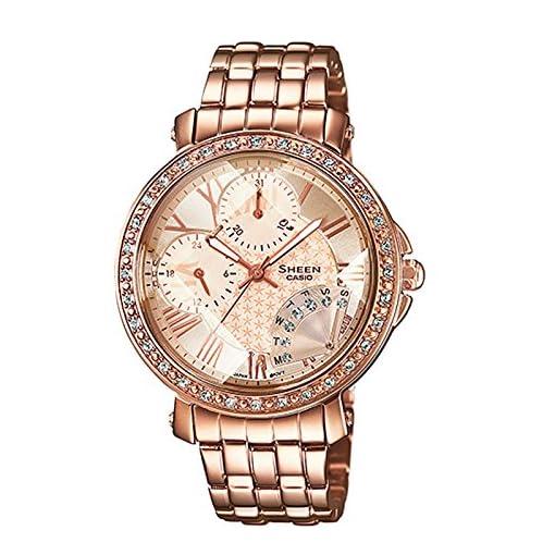 51JUhAiPPRL. SS510  - Casio Sheen Pink Women SHN 3011PG 9ADR SX143 watch